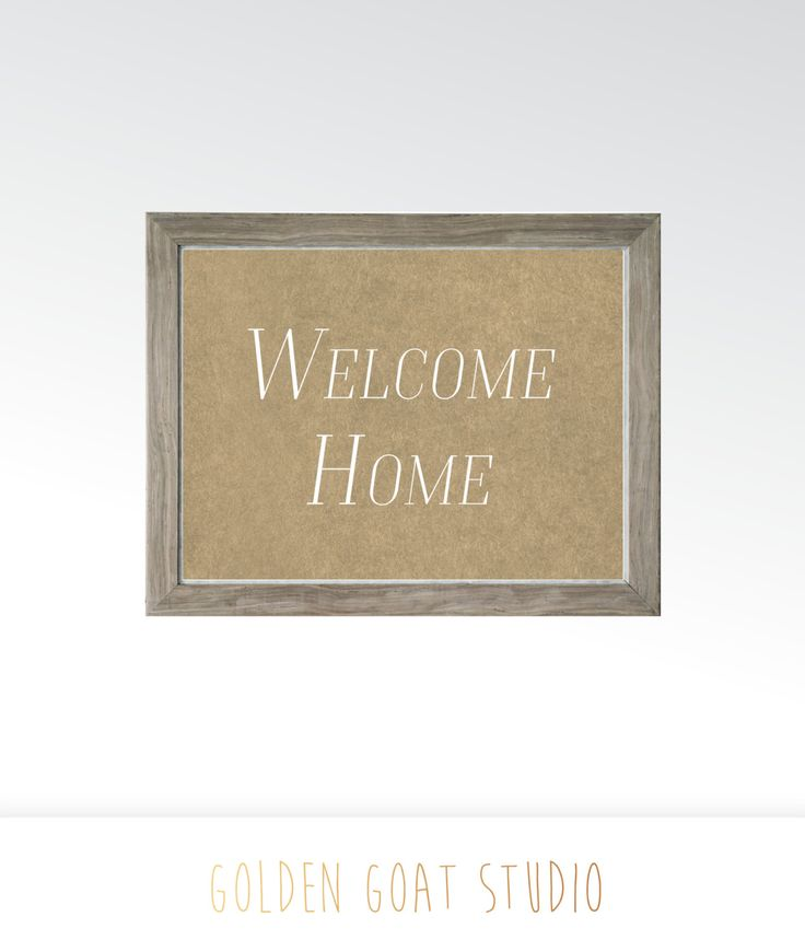 Welcome Home Sign - Printable Digital Art - Instant Download Multiple Sizes - Wall Kitchen Decor Saying - Unique Craft Framable Art Rustic by GoldenGoatStudios on Etsy