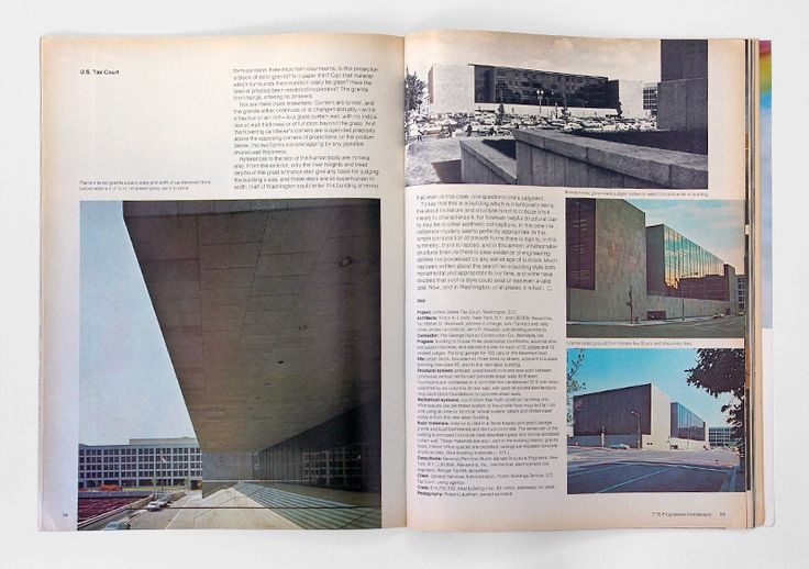 progressive architecture magazine, 1976, spread | content and its lay out