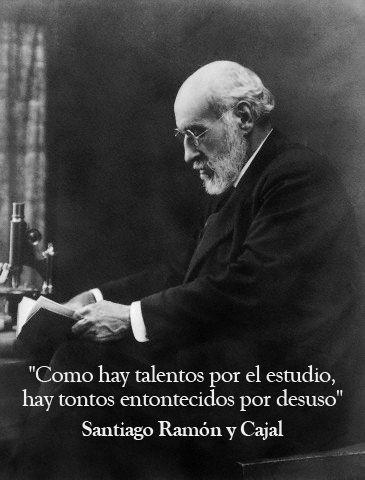 15 frases geniales del premio Nobel de español Santiago Ramón y Cajal: http://www.muyinteresante.es/historia/articulo/quince-grandes-frases-de-ramon-y-cajal #frases #quotes