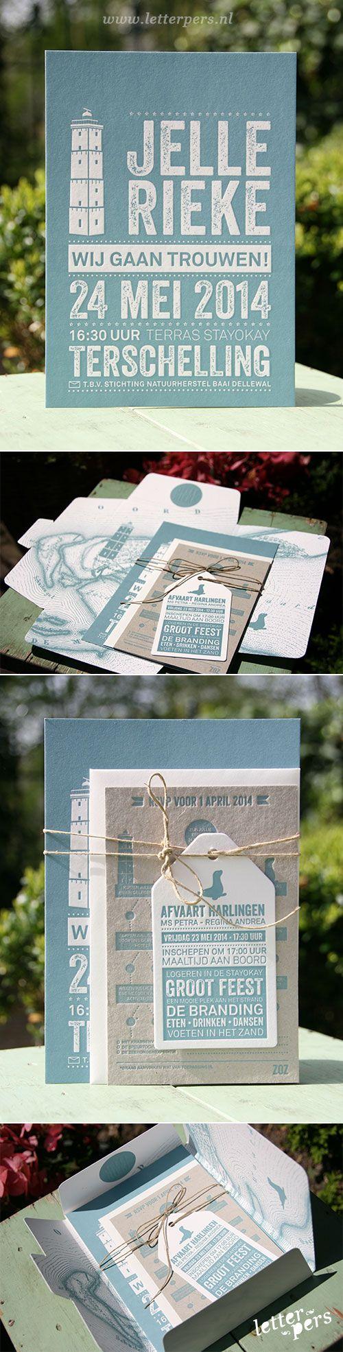 letterpers_letterpress_trouwkaart_rieke_jelle_prachtig_terschelling_compleet_brandaris_set