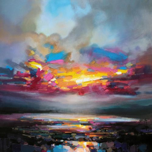"red-lipstick: ""Scott Naismith (b. 1978, South Lanarkshire, Scotland) - Primary Sky Paintings: Oil on Canvas """
