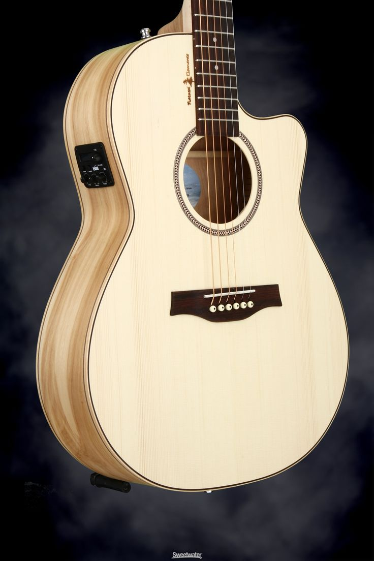 Seagull Guitars Natural Elements Cutaway Folk SG - Natural, Heart of Wild Cherry | Sweetwater.com