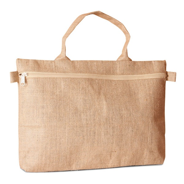 f59aefa8370 Jute Burlap Ecofriendly Reusable Documents file holder bag with zippered  closure- SALE!