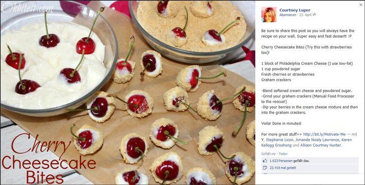 Strawberry-(Cherry-) Cheesecake Bites