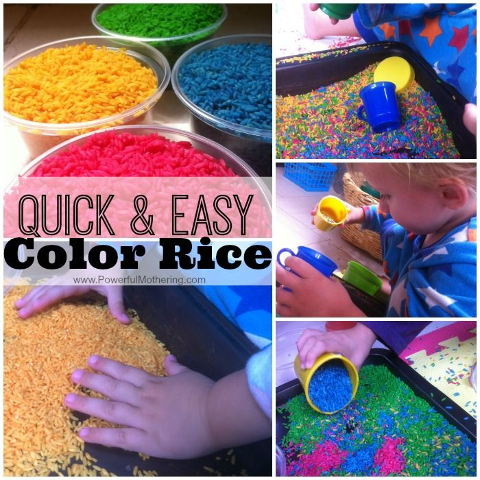quick and easy color rice