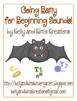 """Going Batty for Beginning Sounds"" is an adorable beginning sound to letter"