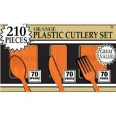Orange Cutlery Set 210ct