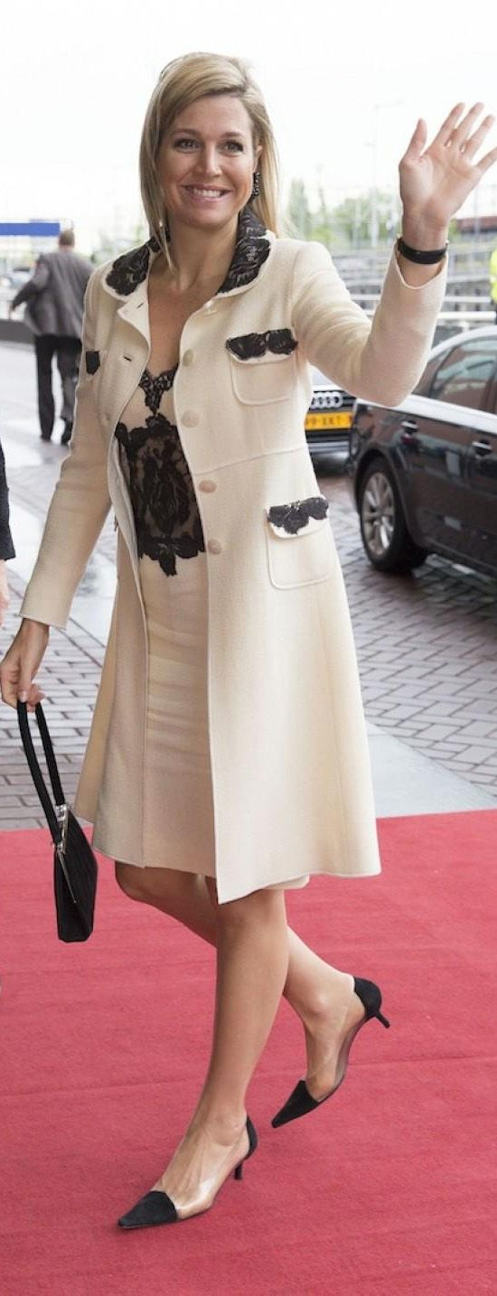 Queen maxima of Netherlands in Amsterdam at 15th of May 2013