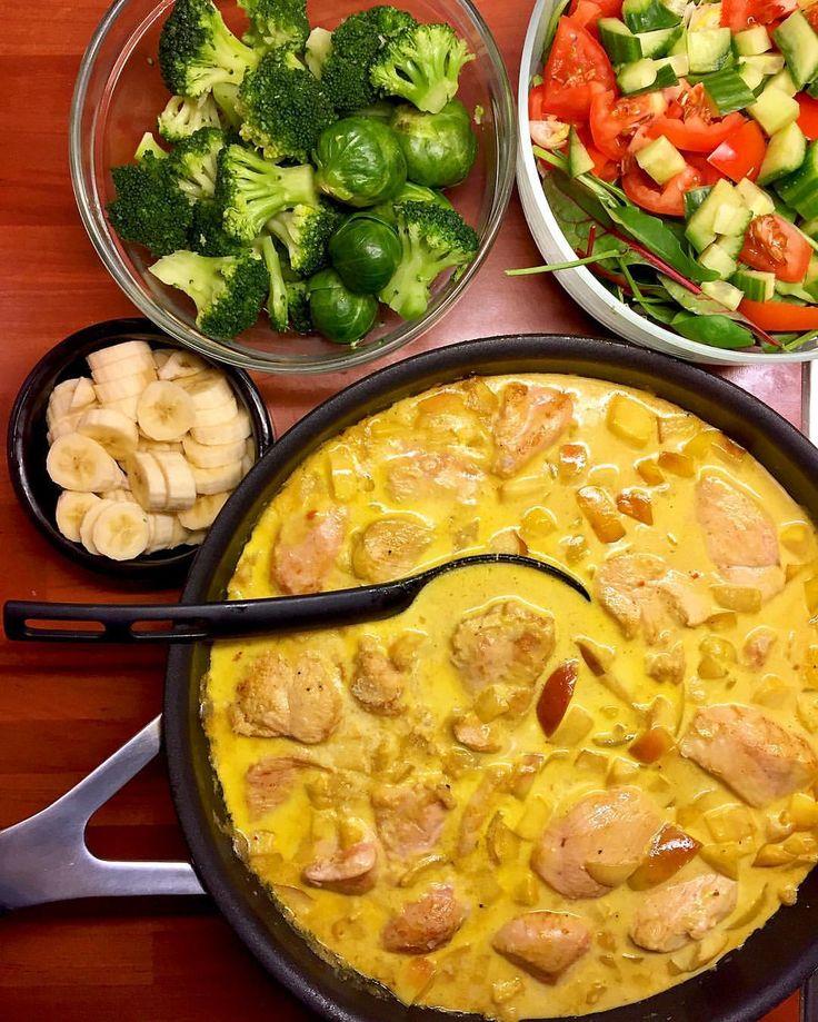 """738 gilla-markeringar, 49 kommentarer - Malin Sofia Magdalena Jansson (@hopemalin) på Instagram: """"Alltså gud så god kvällens #middag blev! Gillar ni curry så kommer ni garanterat gilla det här 😀 .…"""""""