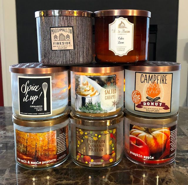 Bath Body Works Fall Candles Empties Review Fall Candles