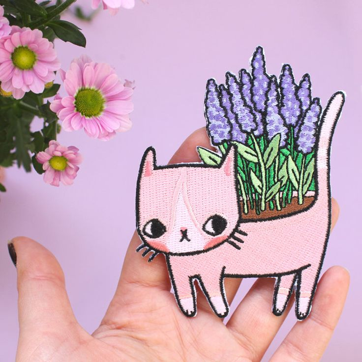 Lavender Kitty Patch by ponyponypeoplepeople on Etsy https://www.etsy.com/listing/250268695/lavender-kitty-patch