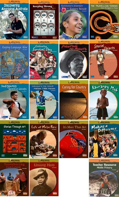 Book covers of 'First Australians: Plenty Stories aligned with the National Curriculum in Studies of Society and Environment, and State and Territory curricula. Source: https://www.creativespirits.info/resources/books/children/first-australians-plenty-stories#ixzz4dc8mME8I