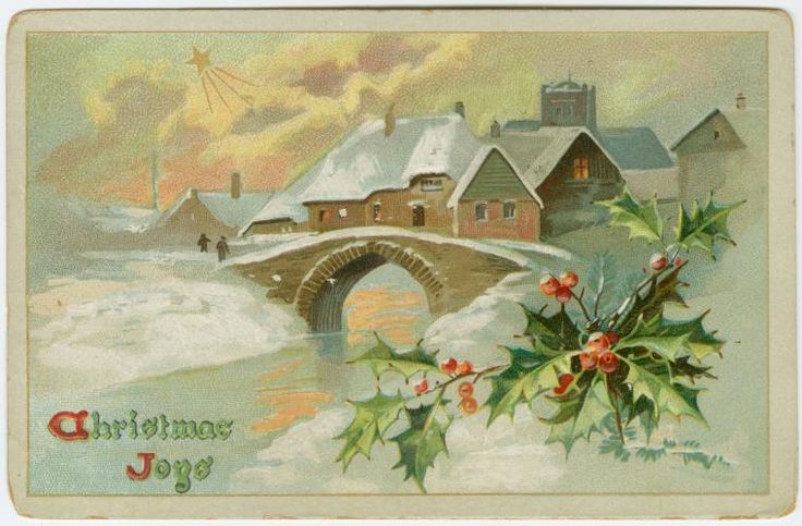 Image ID: 1585488 #1 Christmas joys.  [Christmas snows.] (190-) Raphael Tuck & Sons -- Publisher  Mid-Manhattan Library / Picture Collection