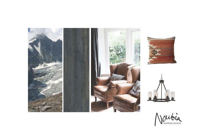 Moodboard for a ski resort in Zillertal, Austria by www.noubia.com, #noubia_interieurontwerp