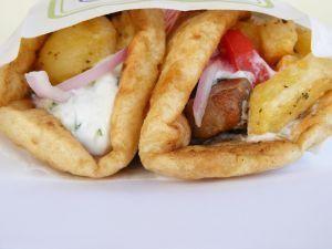 Gluten free pita bread OR souvlaki!! :)