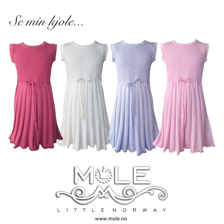 Summerdress fineknits for little princesses ready to dance!! MOLE - Little Norway SS14 www.mole.no