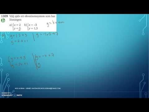 Matematik 5000 Ma 2c   Kapitel 1   Ekvationssystem   Grafisk lösning   1309