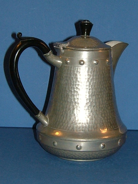 Craftsman English Hammered Pewter Teapot Made in by BiminiCricket, $45.00