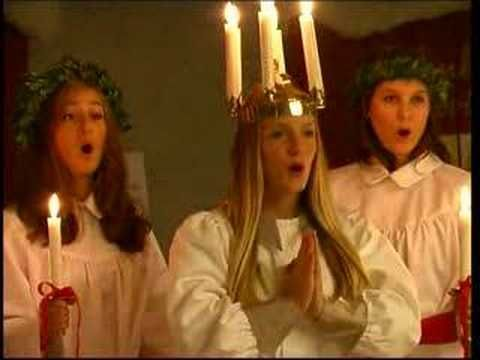 Saint Lucia Day Song in Sweden --- See the English translation in the description