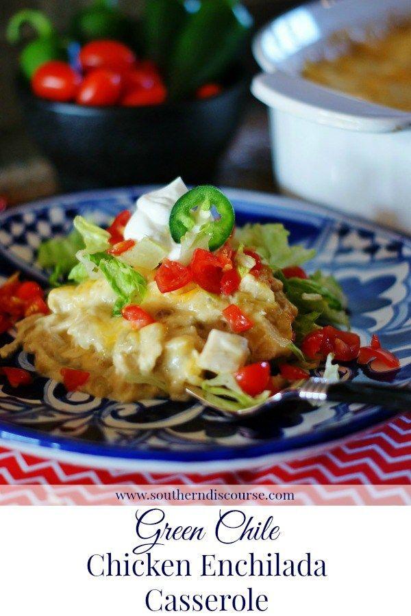 Green Chile Enchilada Casserole Recipe Ethnic Pinterest