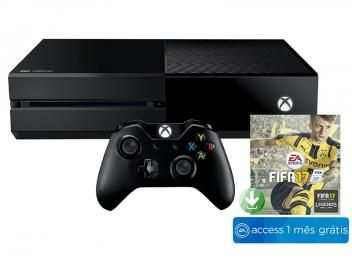 Xbox One 500GB Microsoft 1 Controle - Jogo Fifa 17 + 1 Mês de EA Access de R$ 2.499,00 por R$ 1.299,00   em até 10x de R$ 129,90 sem juros no cartão de crédito  ou R$ 1.208,07 à vista (7% Desc. já calculado.)