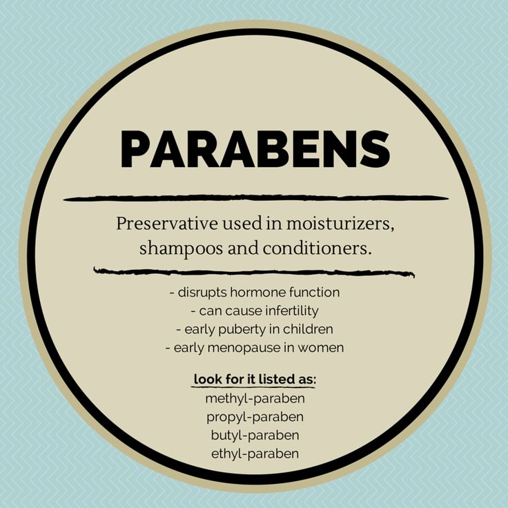 Parabens are a toxic preservative that can cause hormone disruption as well…