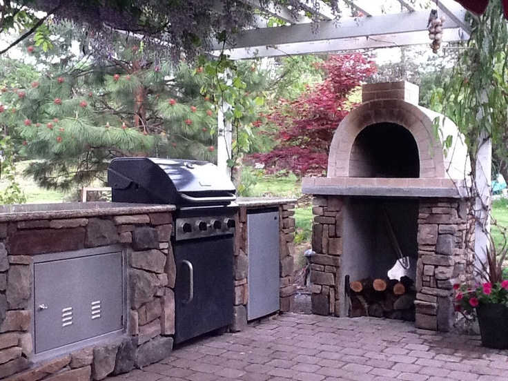 Pizza oven and outdoor kitchen outdoor area ideas - Outdoor kitchen designs with pizza oven ...