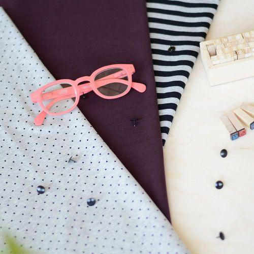 MINIPOLKA, mel.harmaa/ musta| NOSH Fabrics Pre Autumn Collection 2016 is now available at en.nosh.fi | NOSH syksyn ennakkomalliston 2016 kankaat ovat nyt saatavilla nosh.fi