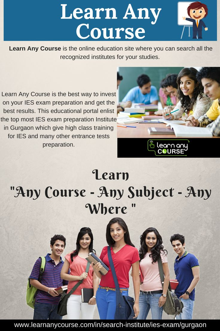 For those who are looking for the top IES Exam Institutes in Gurgaon. Visit LEARN ANY COURSE for find and connect to the top Institutes in Gurgaon for IES exam preparation. We also offer online classes for technical background students. http://learnanycourse.com/in/search-institute/ies-exam/gurgaon
