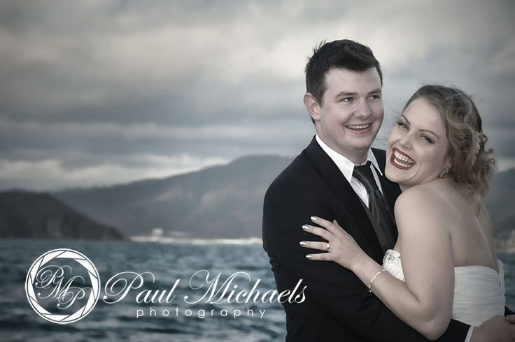 Fun photos of the wedding couple near Wellington airport. Wellington weddings by PaulMichaels photography http://www.paulmichaels.co.nz/bede-dawn-wedding/