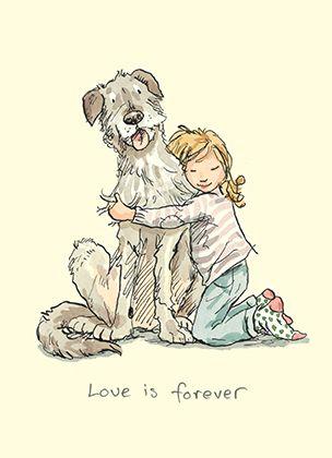 M224 I LOVE MY DOG by Anita Jeram A Greeting Card by www.twobadmice.com