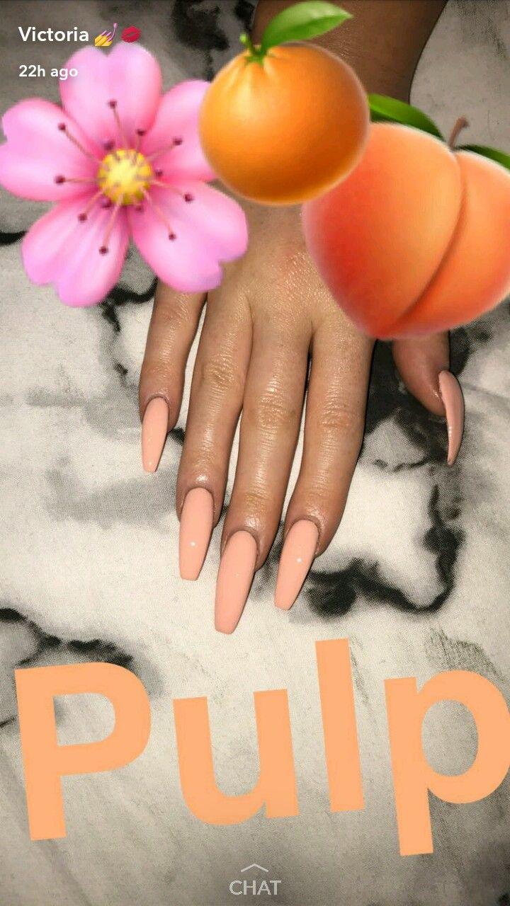 Beautiful Peachy Nails