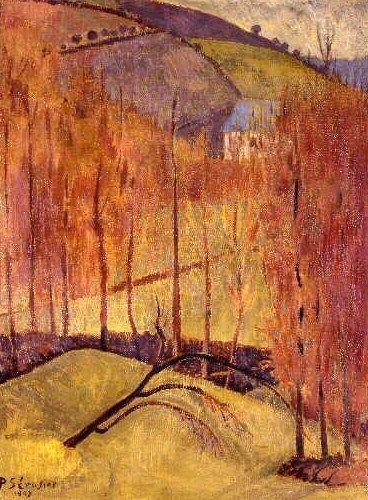 La colline aus peupliers,1907 , by  Paul Serusier