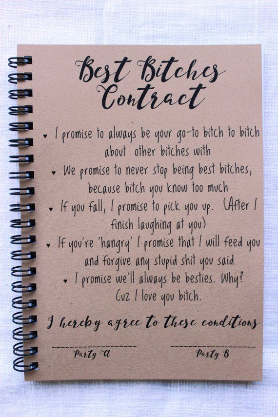 Best Bitches Contract - 5 x 7 journal