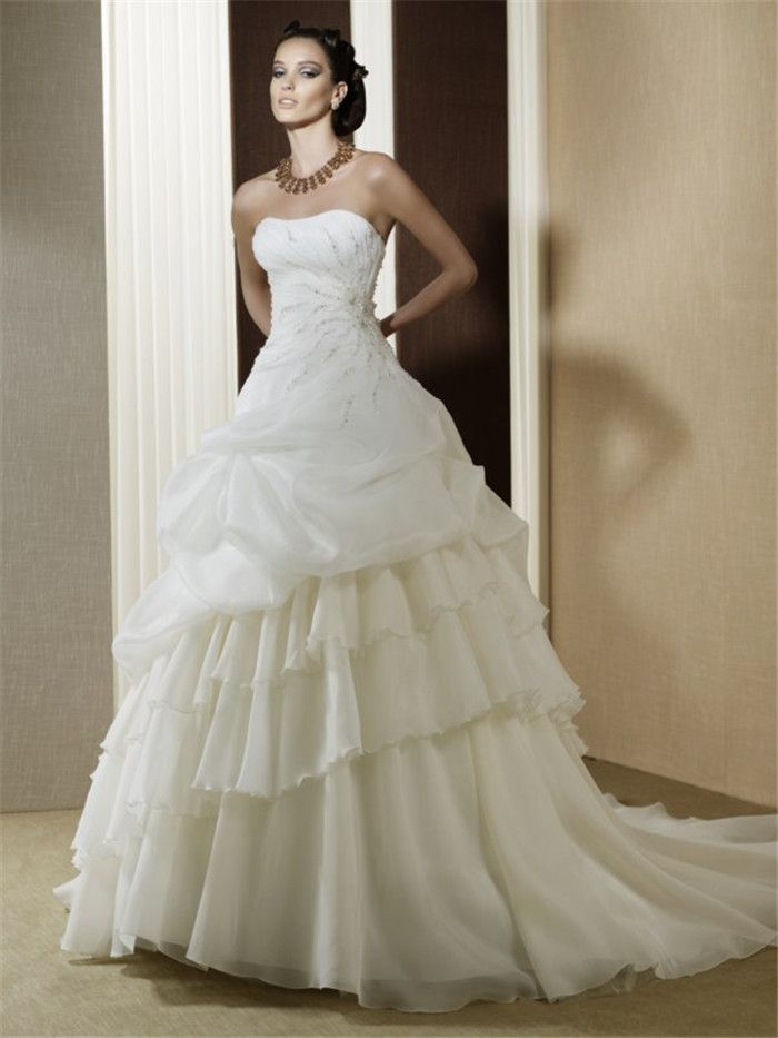 AFN strapless ball gown wedding dresses