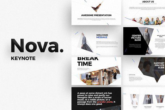 NOVA Keynote Template by ShapeSlide on @creativemarket