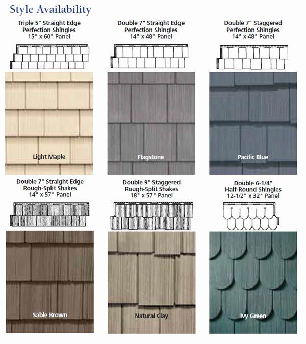 vinyl cedar siding options - Siding Types