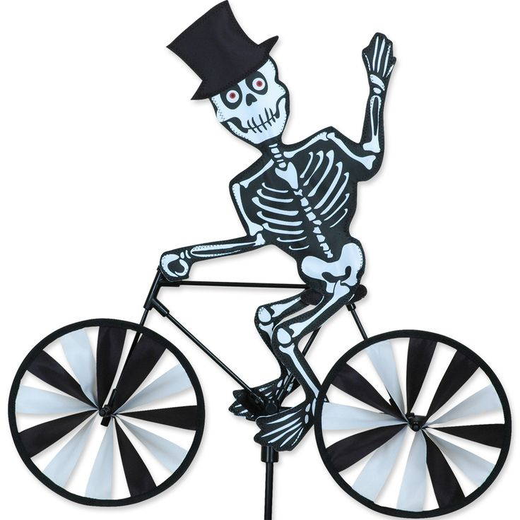 Skeleton Bicycle Spinner From Just For Fun Flags. Skeleton Bicycle Spinner  From Premier Designs. An Eerie Skeleton Design Including Spinning Wheels!