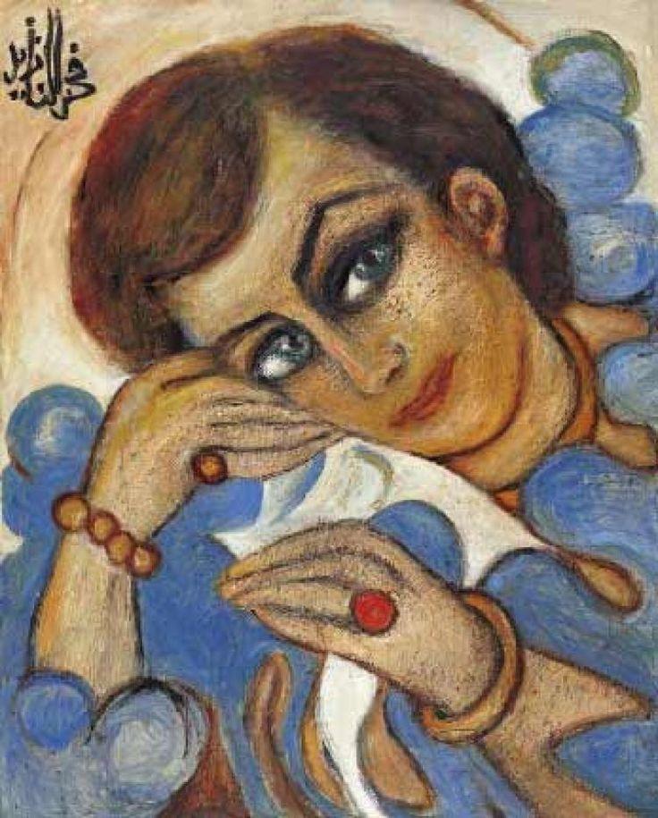 Lady in Blue - Fahrelnissa Zeid