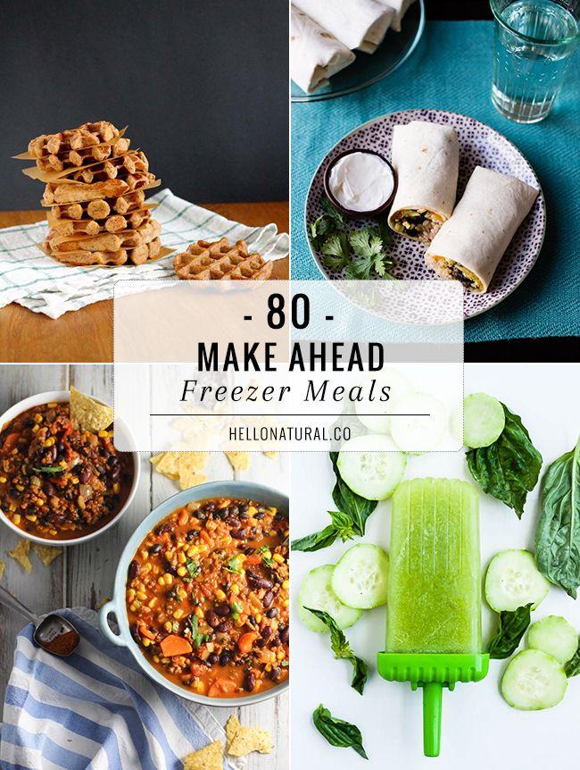 80 Make-Ahead Freezer Meal Recipes | http://helloglow.co/80-make-ahead-freezer-meal-recipes/