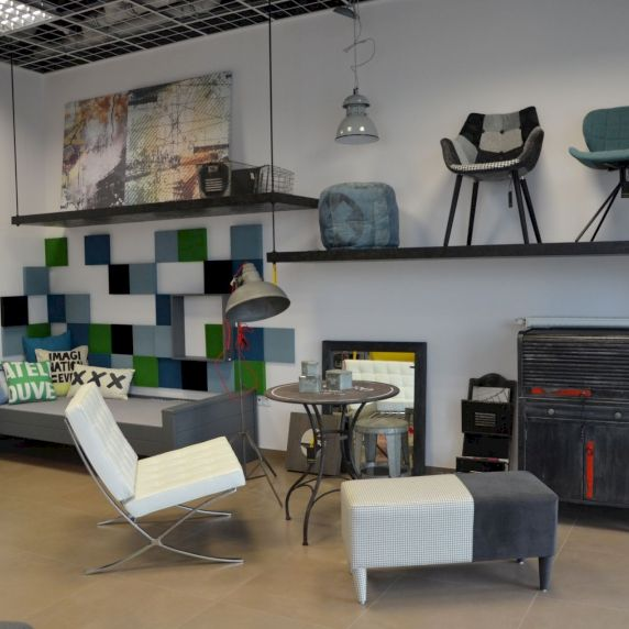 Zdjęcie z realizacji. Panele Pixel. Unique Concept Store Moje Studio GA.