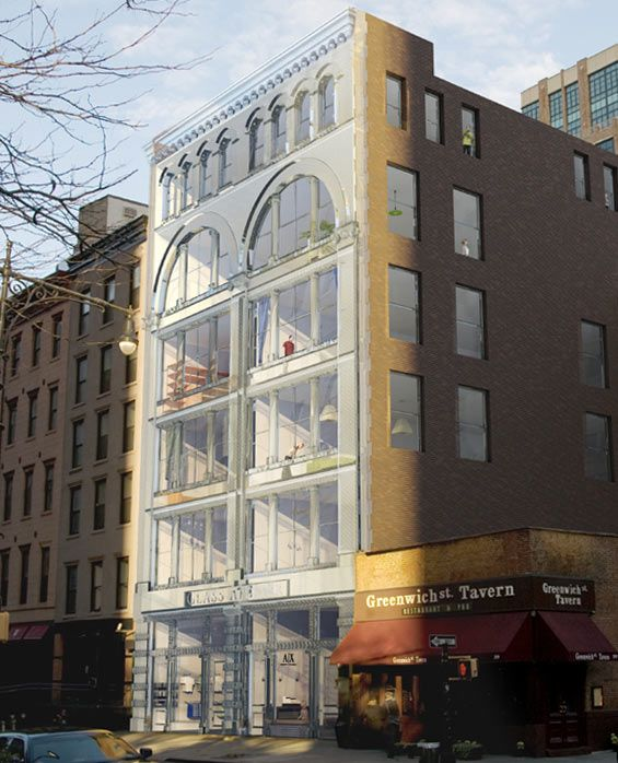 the glass atelier 401 3 greenwich street tribeca the glass atelier has a glass facade made of. Black Bedroom Furniture Sets. Home Design Ideas