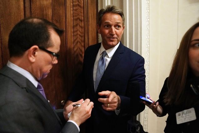 Sen. Jeff Flake Just Torched Trump on the Senate Floor but Does This Really Mean Hes an Ally?