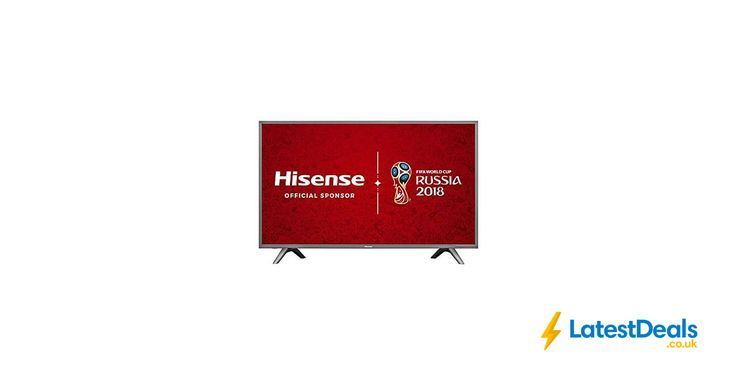 Hisense 43-Inch 4K UHD Smart TV - Grey (2017 Model) Free Delivery, £349 at Amazon UK
