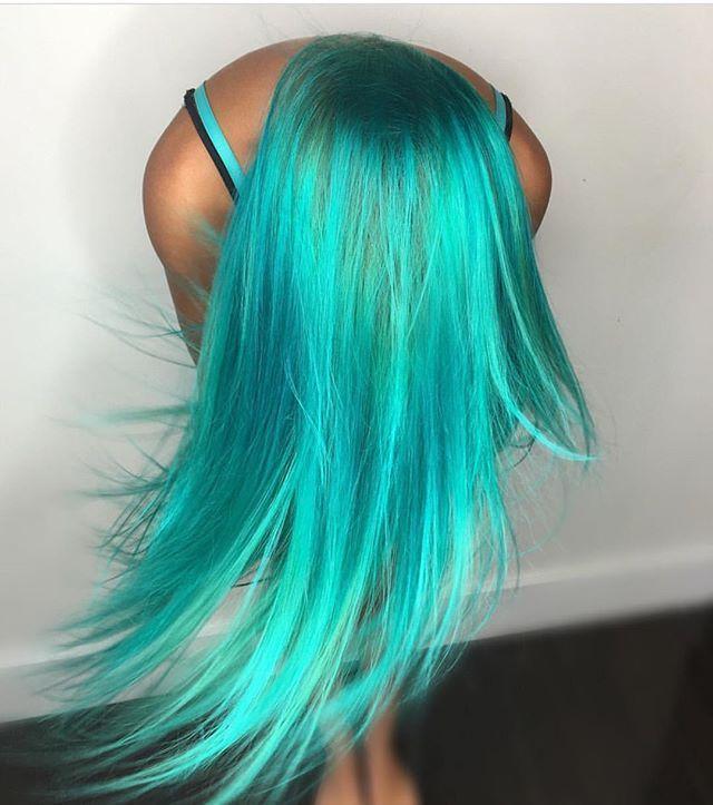 Aqua teal hair