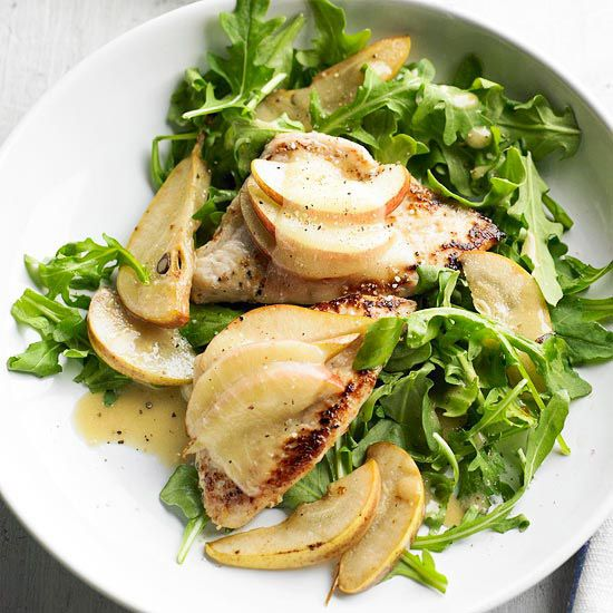 Chicken, Pear & Cheese Salad