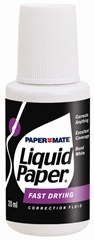 liquid paper..often used for typing errors
