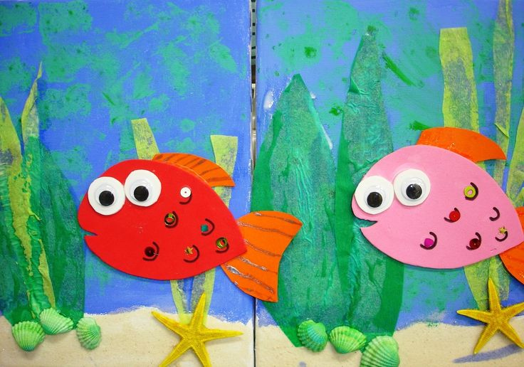 Fish on canvas craft