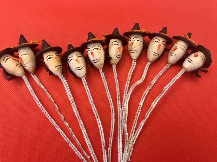 Lot Of 10 Vintage Halloween Witch Pipe Cleaners-Made In Japan | Collectibles, Holiday & Seasonal, Halloween | eBay!