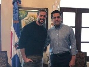 David Collado comparte con el actor William Levy y le da la bienvenida a Santo Domingo